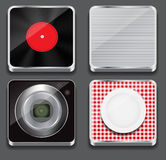 Vector illustration of apps icon set Royalty Free Stock Photography