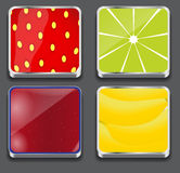 Vector illustration of apps icon set Royalty Free Stock Image