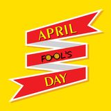 Vector illustration of April Fools Day Greeting. Vector illustration of April Fools Day lettering text for greeting card Stock Photo