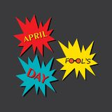 Vector illustration of April Fools Day Greeting. Vector illustration of April Fools Day lettering text for greeting card Stock Images