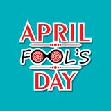 Vector illustration of April Fools Day Greeting. Vector illustration of April Fools Day lettering text for greeting card Stock Photos
