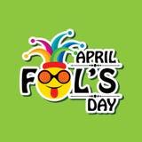 Vector illustration of April Fools Day Greeting. Vector illustration of April Fools Day lettering text for greeting card vector illustration