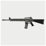 Vector illustration of AR 15 Stock Photo