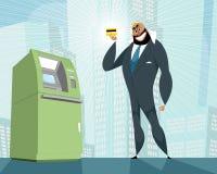 Arab businessman and bank card Stock Image