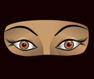 Vector illustration of arab woman Royalty Free Stock Images