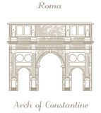 Vector illustration - Arch of Constantine Stock Photography
