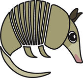 Vector illustration of  a armadillo. Vector illustration of a stylized armadillo Royalty Free Stock Images