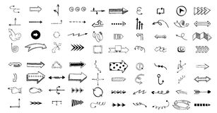 Vector illustration of arrow icons. Royalty Free Stock Photos