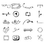 Vector illustration of arrow icons. Royalty Free Stock Image