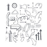 Vector illustration of arrow icons. Stock Photography