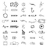 Vector illustration of arrow icons. Royalty Free Stock Images