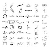 Vector illustration of arrow icons. Royalty Free Stock Photo