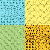 Vector illustration of arrow seamless pattern. Royalty Free Stock Image