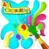 Art and Painting Competition Poster Royalty Free Stock Images