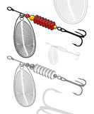 Vector illustration of artificial fishing lure Royalty Free Stock Photos
