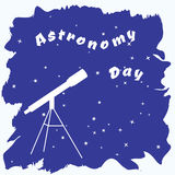 Vector illustration of astronomy day Royalty Free Stock Image