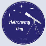 Vector illustration of astronomy day Royalty Free Stock Photos