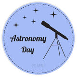 Vector illustration of astronomy day Royalty Free Stock Photo