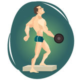 Vector illustration of an athlete weightlifter. Stock Image