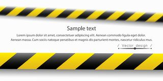 Vector illustration of the attention line. Yellow black police warning tapes, fencing. Danger sign. Do Not cross the vector illustration