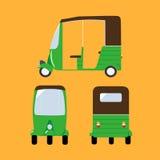 Vector illustration auto rickshaw. Royalty Free Stock Photos