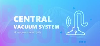 Central vacuum system emblem royalty free illustration