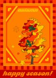 Vector illustration- autumn Royalty Free Stock Photo