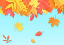 Vector Illustration of an Autumn Design template with Autumnal color leaves. Vector Illustration of an Autumn Design template with Autumnal color leaves vector illustration