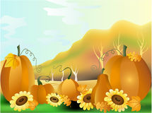 Vector illustration - Autumn rural landscape Stock Images