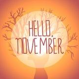 Vector illustration of autumn tree silhouette. Autumn Tree silhouette. Vector illustration Royalty Free Stock Image