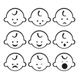 Vector illustration of baby boy. Smiley faces. Good use for logo or symbol your company Royalty Free Stock Photos