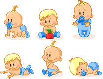 Vector illustration of baby boys  Stock Images