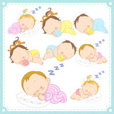Vector illustration of baby boys and baby girls Stock Image