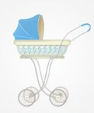 Vector illustration of baby carriage Royalty Free Stock Images