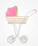 Vector illustration of baby carriage Stock Images