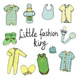 Vector illustration of baby clothes vector illustration