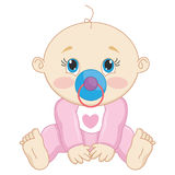 Vector Illustration Of A Baby Royalty Free Stock Photography