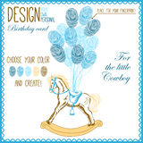 Vector illustration of  baby hobbyhorse for boy Royalty Free Stock Images