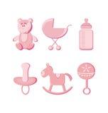 Vector illustration - baby icons set Stock Photo