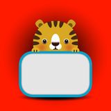 Vector illustration of baby tiger  Stock Image