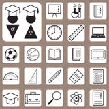 Vector Illustration,Back to School Icon for Design and Creative Royalty Free Stock Photos