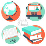 Vector Illustration back to school icons Stock Photography