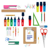Vector illustration of Back to School supplies. School supplies. Vector illustration of Back to School supplies Stock Photography