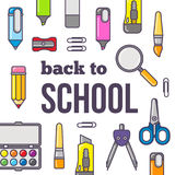 Vector illustration of back to school theme. Stock Photos