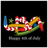 Vector illustration. background American independence day of July 4. Happy 4th of July. Designs for posters, backgrounds, cards,. Banners, stickers, etc. EPS stock illustration