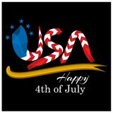 Vector illustration. background American independence day of July 4. Happy 4th of July. Designs for posters, backgrounds, cards,. Banners, stickers, etc. EPS royalty free illustration