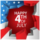 Vector illustration. background American independence day of July 4. Happy 4th of July.  Designs for posters, backgrounds, cards,. Banners, stickers, etc. EPS Royalty Free Stock Images