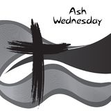 Ash Wednesday. Vector Illustration of a background for Ash Wednesday with Cross Royalty Free Stock Photo