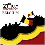 Vector illustration. background Belgium national holiday of July 21. Happy Independence Day. designs for posters, backgrounds, car. Ds, banners, stickers, etc stock illustration