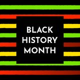 Vector illustration background. Black history month. Vector illustration background with black and red, yellow, green stripes. Black history month stock illustration